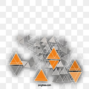 Science Fiction Triangular Geometric Pattern Background Patterns Ppt Element PNG