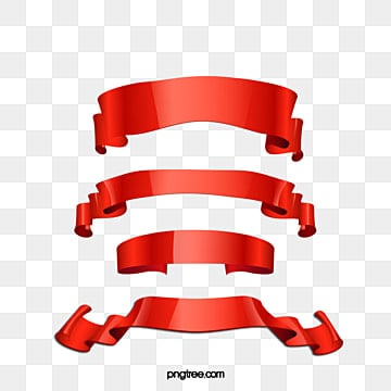 5 red ribbon banners vector, Red Ribbon, Ribbon, Scroll PNG and Vector