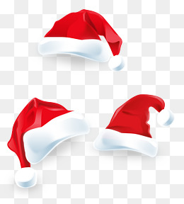 Vector Hand-painted realistic santa hat, Vector, Hand Painted, Santa Claus PNG and Vector