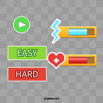 A set of game buttons, The Start Button, Energy Bars, Experience Bar PNG and PSD