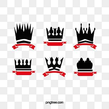 و الشريط شعار التاج, تاج المواد, أسود, أحمر PNG و PSD