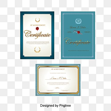 vector blue background border certificate letter of appointment