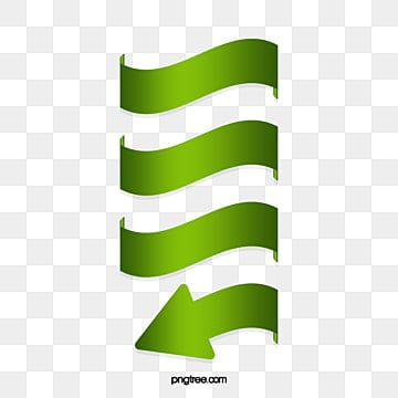 Vector painted green spiral arrow