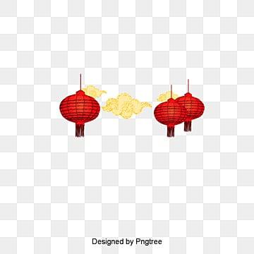 Vector linterna china nubes, Estilo Chino, Rojo, El Año Del Gallo PNG y Vector