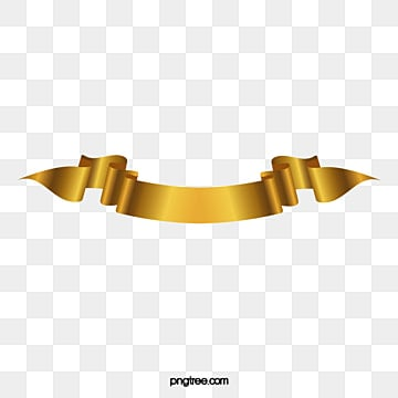 gold ribbon title gradient vector material, Vector, Gold Ribbon Material, Luxurious PNG and Vector illustration image