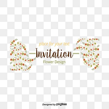Flowers Invitations PNG Images | Vectors and PSD Files ...