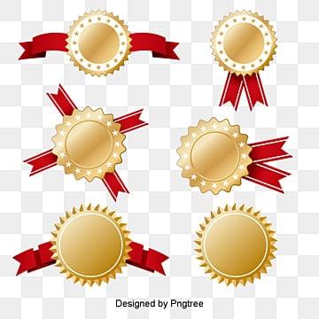 Gold Label Design, Badge, Gold Badge, Gold Medal PNG and Vector