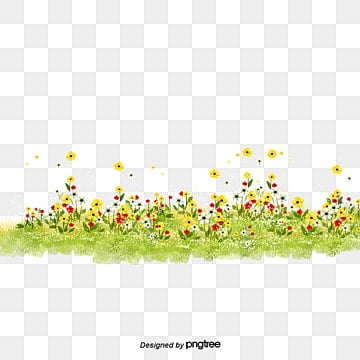 As Flores Da Primavera., Flores, A Grama, A Primavera PNG Image and Clipart