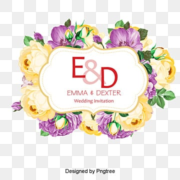 Wedding flower logo, Flowers, Flowers, Frame PNG and PSD