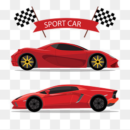 Vector red sports car