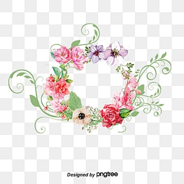 Fresh Wedding Flowers Vector Material, Fresh Flowers, Fresh Flowers, Wedding  Flower Garland PNG