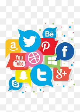 Social media symbol vector