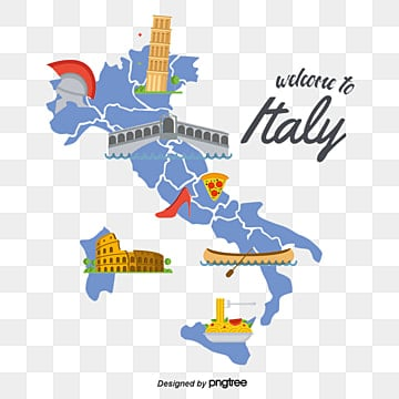 Map Of Italy PNG Images | Vector and PSD Files | Free ...