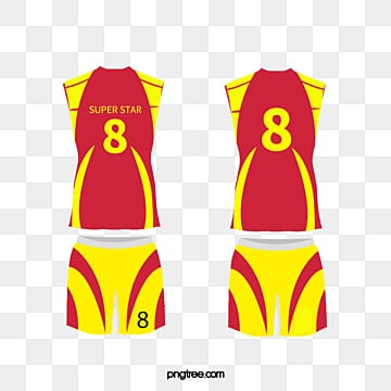 Basketball Uniform Pattern Clipart Number 7 Red Shirt Png Image And
