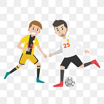 vector cartoon footballer material soccer player vector soccer players cartoon football players png