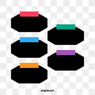 Colored rectangles and hexagons PPT decorative pattern, Polygon Download Free PNG, PPT Decorative Material Transparent PNG, Decorative Summary PNG and PSD