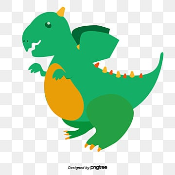 Cute Dinosaur Lovely Dragons Cartoon PNG And Vector