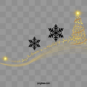Christmas elements, Creative Christmas Tree, Winter Snowflakes Elements, Snow Pictures PNG Image