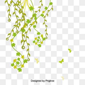 Borboleta Verde., Spring Green Pattern Design Vector, Folhas Verdes, As FolhasPNG e Vector