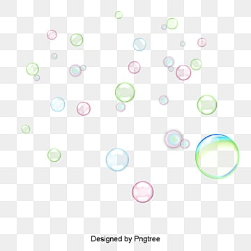 Cartoon underwater bubbles