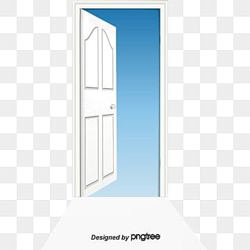 Vector painted open door Vector Hand Painted Open Doors PNG and Vector