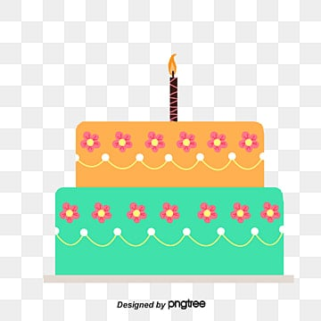 Cartoon Birthday Cake Clipart PNG And PSD