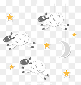 Sheep Vector, Black, White, Star PNG and Vector