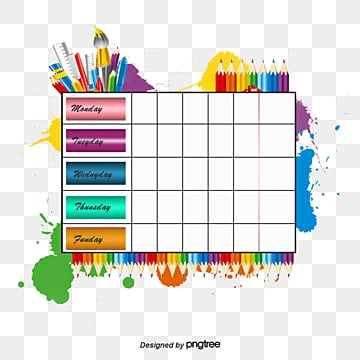 Class Schedule Png Images Vector And Psd Files Free