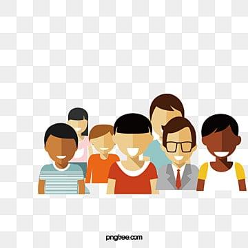 Vector de um Grupo de pessoas, Vector, Um Grupo De Pessoas, PersonagensPNG e Vector