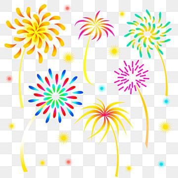 вектор праздничный фейерверк, фейерверк, цветущий, ночное небоPNG и вектор