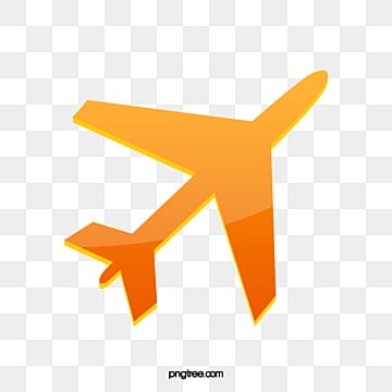 orange airplane icon, Airplane Clipart, Orange Clipart, Aircraft PNG and PSD