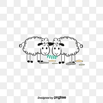 Vector hand painted sheep material