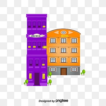 Hotel Png Vector Material Cartoon House PNG And