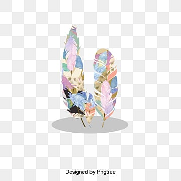Conception de logo du vecteur de couleur de plumes, Vecteur, Conception, Le Logo 设计PNG et vecteur