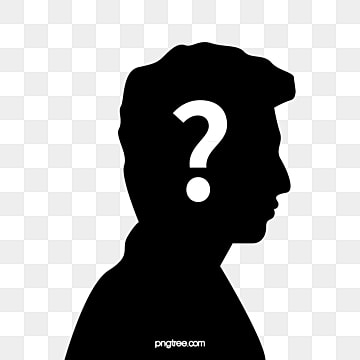a side face shadow question mark male png image