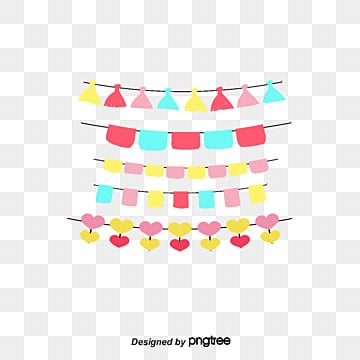 Colorful party party decoration flags, Vector Material, Party Flag, Striped Flag PNG and Vector