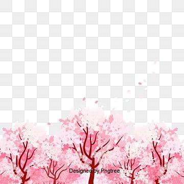 Vecteur de bois peint des fleurs de cerisier, Cherry Vecteur, Fleur De Cerisier Du Tourisme, La Fleur De CerisierPNG et vecteur