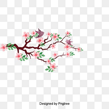 Vector flowers and birds