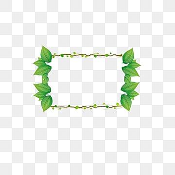 Green Leaf Border Line Green Leaf Border PNG ...