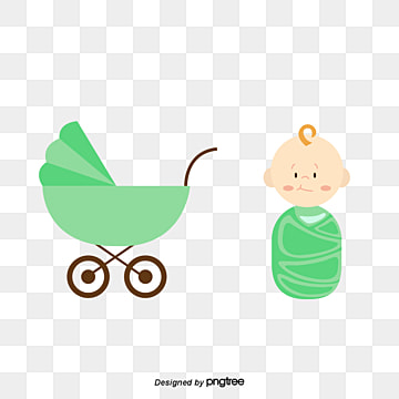 Baby girl doing baby carriage, Vector, Baby Girl, Baby PNG and Vector