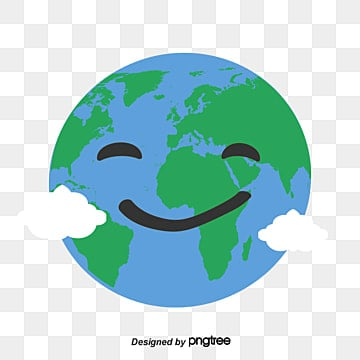 vector blue earth smiling face, Earth Smiling Face, Blue Earth, The Earth Day PNG and Vector