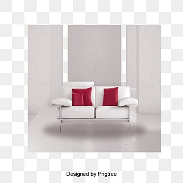 White Simple Living Room Decoration Wall Sofa PNG And PSD