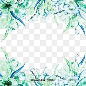 Watercolor green leaf border, Watercolor, Green Leaves, Green PNG and Vector