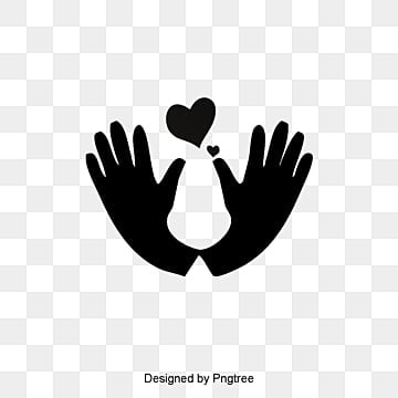 Cute hands care vector, Heart, Health, Wedding Elements PNG and Vector