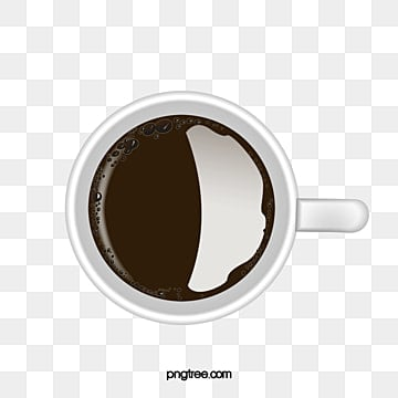Coffee Top View White Cup Png Image