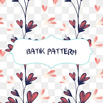 Vector batik pattern with flowers and clouds, Vector Pattern, Batik Pattern, Flowers PNG and Vector