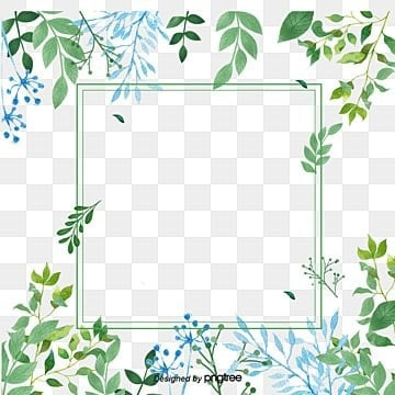 Small fresh green flowers border texture, Small Fresh, Green, Flowers PNG and PSD