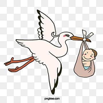 вектор ребенок пришел, малыш, родился, с небаPNG и вектор