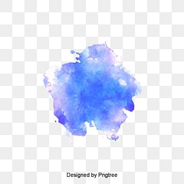 Azul de cielo de acuarela Graffiti, Vector De Material, Blooming, Acuarela PNG y Vector