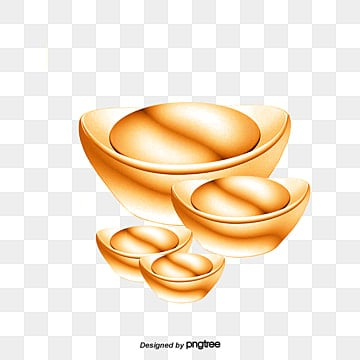 Ancient Gold Ingot Money Png And Vector